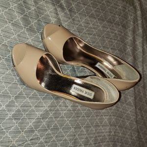 Steve Madden Nude Peep Toes Shoes